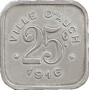 25 Centimes -  Ville d'Auch [32] – revers