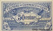 50 centimes - Chambre de Commerce d'Auch [32] – avers