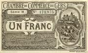 1 franc - Chambre de Commerce d'Auch [32] < sans filigrane> – avers