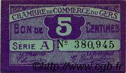 5 centimes - Chambre de Commerce d'Auch [32] – avers