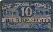 10 centimes - Chambre de Commerce d'Auch [32] – avers