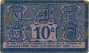 10 centimes - Chambre de Commerce d'Auch [32] – revers