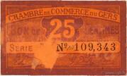 25 centimes - Chambre de Commerce d'Auch [32] – avers