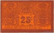 25 centimes - Chambre de Commerce d'Auch [32] – revers