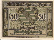 50 Pfennig (Auerbach) – avers