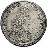 1 Thaler - Alexander Sigismund von Pfalz-Neuburg – avers