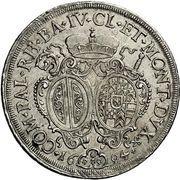1 Thaler - Alexander Sigismund von Pfalz-Neuburg – revers