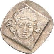 1 Pfennig - Friedrich III. von Hohenzollern and Heinrich IV. von Lichtenau (Vierschlagpfennig) – avers