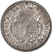 ½ Thaler - Alexander Sigismund von Pfalz-Neuburg – revers