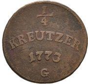 ¼ Kreuzer - Clemens-Wenzel von Sachsen-Polen – revers