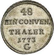 1/48 Thaler - Clemens Wenzel von Sachsen (Konventionstaler) – revers