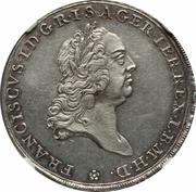 ½ Conventionthaler - Franz I – revers