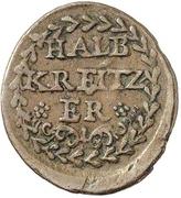 ½ Kreuzer (Kipper) – revers