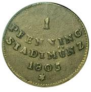1 pfennig – revers