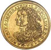 2 ducats Leopold I. – revers
