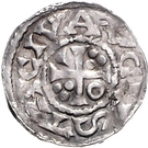 1 denar Heinrich II. – revers