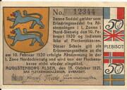 50 Pfennig (Augustenburg) – avers