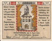 1 Mark (Augustenburg) – avers