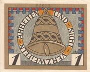 1 Mark (Augustenburg) – revers