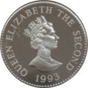 1 Pound - Elizabeth II (40ème anniversaire du couronnement) – avers