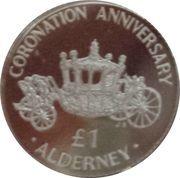 1 Pound - Elizabeth II (40ème anniversaire du couronnement) – revers