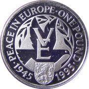 1 Pound - Elizabeth II (Paix en Europe) – revers