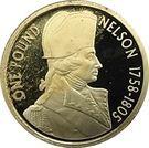 1 Pound - Elizabeth II (4ème portrait ; Horatio Nelson) – revers