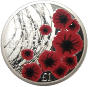 1 Pound - Elizabeth II (Remembrance Day) – revers