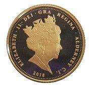 1/4 Sovereign-Elizabeth II Sapphire Jubilee – avers