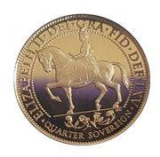 1/4 Sovereign-Elizabeth II Sapphire Jubilee – revers