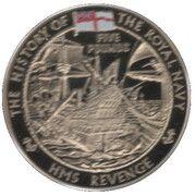 5 Pounds - Elizabeth II (HMS Revenge) – revers