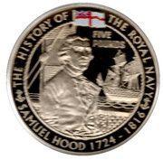 5 Pounds - Elizabeth II (Samuel Hood) – revers