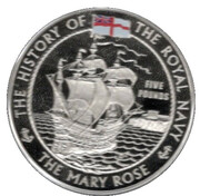 5 Pounds - Elizabeth II (The Mary Rose) – revers