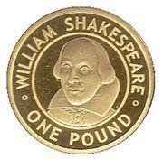 1 Pound - Elizabeth II (4ème portrait ; William Shakespeare) – revers
