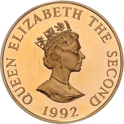 2 Pounds - Elizabeth II (4th Portrait; 40th Anniversary of Queen's Reign) – avers