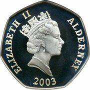 50 Pence - Elizabeth II (50ème anniversaire du couronnement) – avers