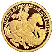 1/8 Sovereign - Elizabeth II (200th Anniversary George and the dragon) – revers