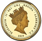 1/2 Sovereign - Elizabeth II (Una and the Lion) – avers