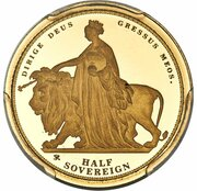 1/2 Sovereign - Elizabeth II (Una and the Lion) – revers