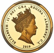 Sovereign - Elizabeth II (Una and the Lion) – avers