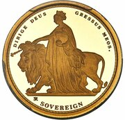 Sovereign - Elizabeth II (Una and the Lion) – revers