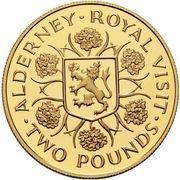 2 Pounds - Elizabeth II (4th Portrait; Royal Visit) – revers