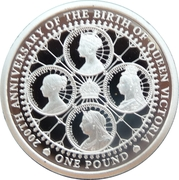 1 Pound - Elizabeth II (The 200th Anniversary of Queen Victoria) – revers