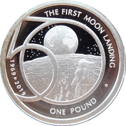 1 Pound - Elizabeth II (The 50th Anniversary of the Moon Landing) – revers