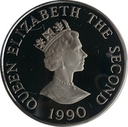 2 Pounds - Elizabeth II (4th Portrait; Queen Mother's 90th Birthday) – avers