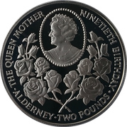 2 Pounds - Elizabeth II (4th Portrait; Queen Mother's 90th Birthday) – revers