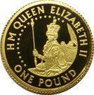 1 Pound - Elizabeth II (4ème portrait; reine Elizabeth I) – revers