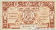 50 centimes - Chambre de Commerce d'Aurillac [15] – revers
