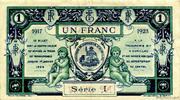1 franc - Chambre de Commerce d'Aurillac [15] – revers