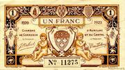 1 franc - Chambre de Commerce d'Aurillac [15] – avers